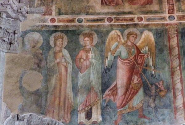 La pesatura delle anime, nell'Abbazia di San Flaviano - Montefiascone (VT)