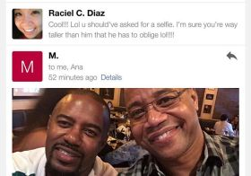 When your big bro spots Cuba Gooding Jr. & emails you, then you egg him on to take a selfie…  #cubagoodingjr #awesome #socal [instagram]