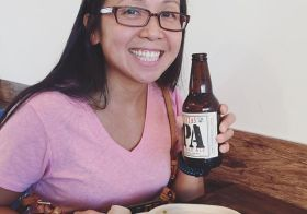 A 9hr drive, then picked up my packet for Sunday's race, and finally enjoying supper with sis! #trisantacruz #lagunitas [instagram]
