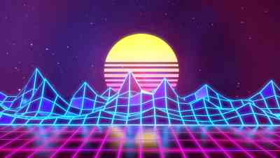 Synthwave - Neon 80's - Background – Rafaël De Jongh – Web Developer | 3D Artist