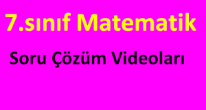 7.sınıf matematik soru çözüm videoları