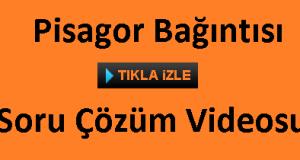 pisagor bağıntı soru ve çözümleri videosu