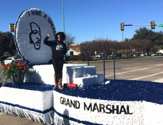Grand Marshal for Dallas, Texas MLK Weekend Parade