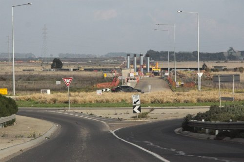 Work on extending Christies Road south of the Ballarat line