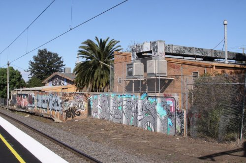 Railway side of the Footscray Senior Citizens' Centre