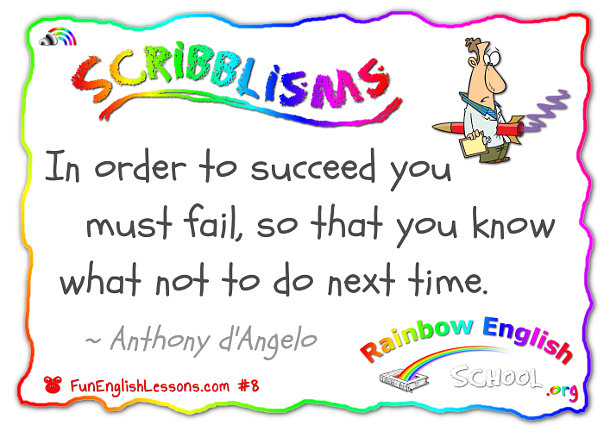 "scribblisms ""failure to learn"" ""Sab Will"""