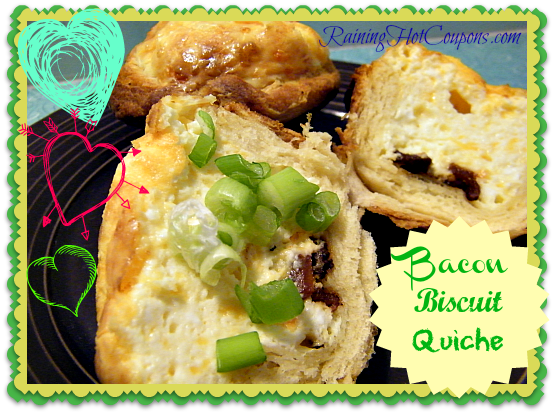 Bacon Biscuit Quiche ~ Perfect Weekend Brunch