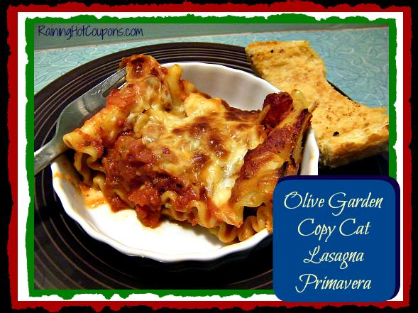 Olive Garden Copy Cat Recipe: Lasagna Primavera!