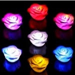 *HOT* Color Changing LED Rose Flower Night Light Candle Only $0.88 + FREE Shipping