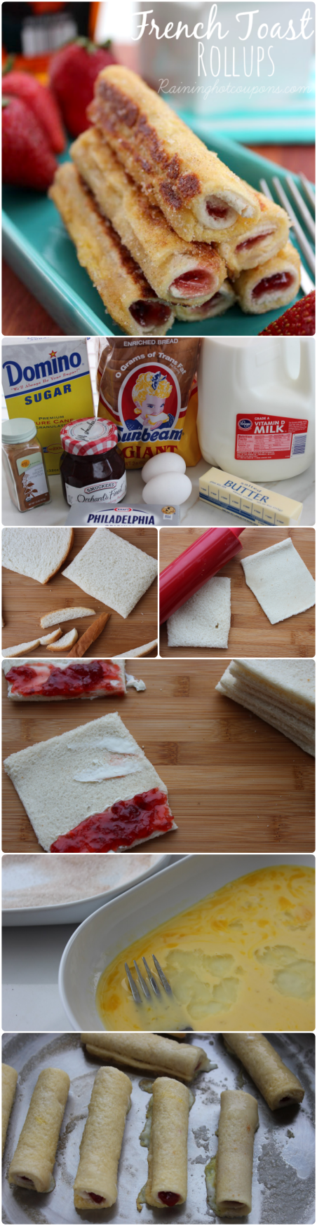 french toast rollups collage