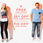 *HOT* American Eagle FREE Pair of Jeans ($79.50 Value) Coupon or $10 Off!