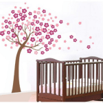 Hot Pink Cherry Blossom Tree Wall Decor Removable Decal Vinyl Only $2.99 + FREE Shipping!
