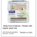 *HOT* FREE Nivea Pure & Natural Powder with Organic Green Tea (300 Openings)