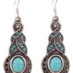 Amazon: Ethnic Tibetan Silver Oval Rimous Turquoise Crystal Drop Earrings Only $5.26 Shipped (Reg. $21.33)
