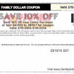 *HOT* Family Dollar: 10% Off Entire Purchase Coupon
