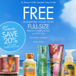 *HOT* Bath & Body Works: FREE Signature Collection Full-Size Item ($12.50 Value) NO Purchase Necessary!?!