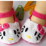 *HOT* Hello Kitty Baby Girls Crochet Knit Shoes 0-12m Only $9.48 + FREE Shipping!