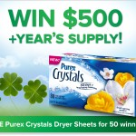 Enter to Win $500 + a Year's Supply of Purex Crystals Dryer Sheets!