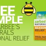 FREE Box of Zarbee's Seasonal Relief!