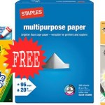 *HOT* Staples: FREE Crayola Markers, Ream of Paper and Mechanical Pencils!