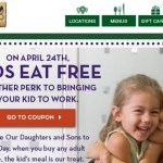 Olive Garden: FREE Kid's Meal Coupon!