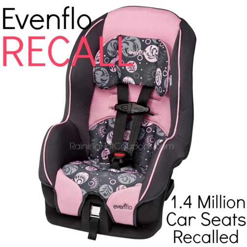 evenflo carseat recall over 1 4 million car seats recalled raining hot coupons. Black Bedroom Furniture Sets. Home Design Ideas