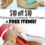 *HOT* $10 off  $10 Famous Footwear Purchase Coupon = FREE Socks, Clearance Shoes and More!