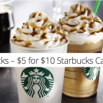 *HOT* $10 Starbucks Gift Card Only $5 (Select Subscribers)