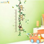 Amazon: Funny Monkey Growth Chart Vinyl Wall Decal Only $4.29 Shipped (Reg. $59.99?!)