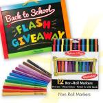 Melissa & Doug Flash Giveaways for Back to School Items!