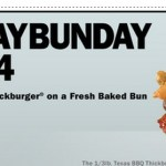Carl's Jr or Hardee's: Buy 1 Get 1 FREE Texas BBQ Thickburger Coupon!