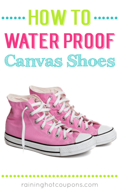 how to waterproof canvas shoes raining coupons