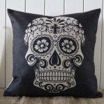 Amazon: 45x45cm Black Skull Halloween Linen Pillow Case Only $7.97 Shipped