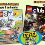FREE 2 Year Subscription to Lego Club or Lego Club JR.