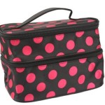Amazon: Double Layer Cosmetic Bag-Black & Hot Pink ONLY $4.25 + FREE Shipping