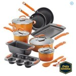Rachael Ray 15-Piece Hard Enamel Non-Stick Cookware Set ONLY $89 (Reg. $169.99) + FREE Shipping!