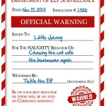 FREE Elf Warning for Naughty Kids