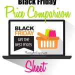 Black Friday Price Comparison Chart 2014
