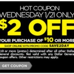 *HOT* Dollar General $2 off $10 or more Coupon!