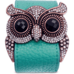 Amazon: Leather and Crystal Owl Cuff Bracelet Only $21.97 (Reg. $99.99)
