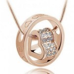 Crystal Rhinestone Pendant Necklace (Perfect Valentine's Day Gift) ONLY $3.75 + FREE Shipping!