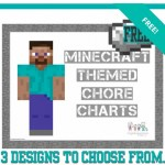 *HOT* FREE Minecraft Themed Chore Charts
