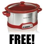 FREE Hamilton Beach Programmable 5 Quart Slow Cooker ($36.99 VALUE!)