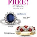 2 FREE Genuine Sapphire Princess Rings ($100 VALUE!)