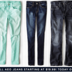 American Eagle Outfitters: Men's & Women's Select Jeans Only $19.99 (Reg. $49.95, Today Only)