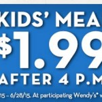 Wendy's: Kid's Meals Only $1.99!
