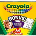64 count box of Crayola Crayons Including a Crayon Sharpener ONLY $2.00