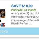 $10/1 Purina Pro Plan Pet Food or Cat Litter Coupon