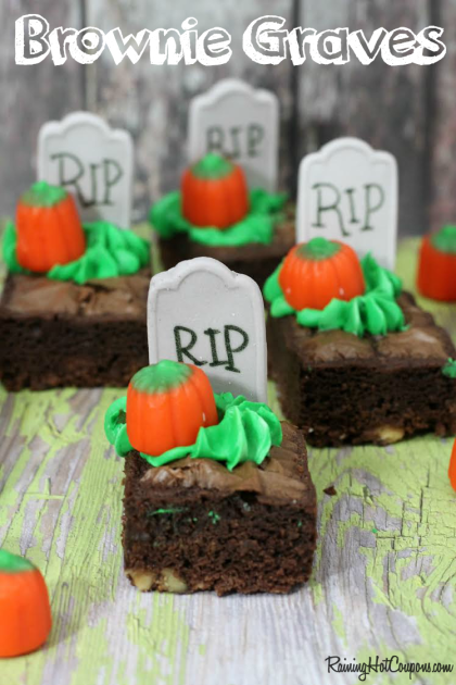 Halloween Brownie Graves