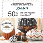 50% off One Regular-Priced Item at Jo-Ann's Coupon! (I'm getting Halloween Decor!)
